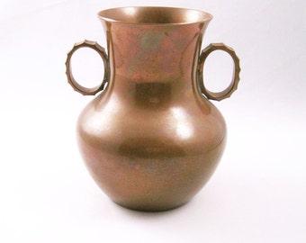 Danish Copper Vase SPV Copper Denmark Great Patina- FL