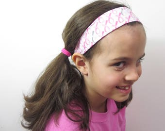 breast cancer headband pink ribbon.  one size fits all. order up to set of 20 and save. pink and gray cancer ribbon.