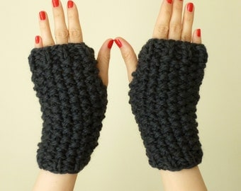 Knitting pattern - fingerless mitts instant PDF download