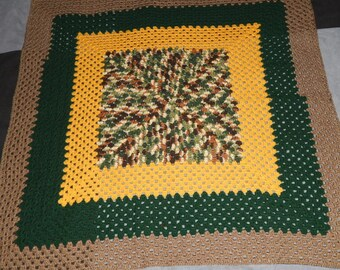 Crocheted Recliner Throw