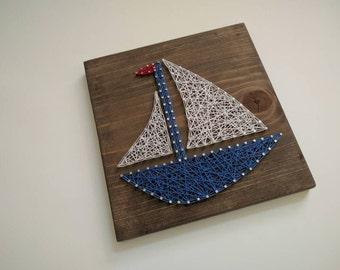 Ready to ship sailboat string art