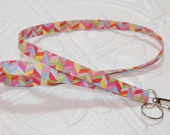 Pink Id Badge Holder Lanyard