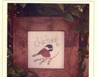 The Victoria Sampler: Chickadee - a Folk Art Birds Cross Stitch Pattern by Cathy Jean