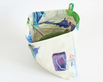 Knitter's Project Bag, Knitting Bag On The Go, Yarn Small Bag