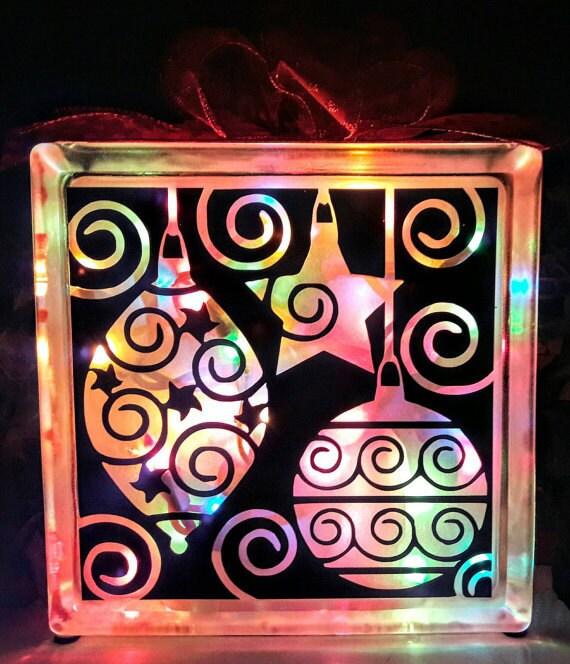 Christmas glass block svg glass block svg cut file glass for Craft vinyl cutter reviews