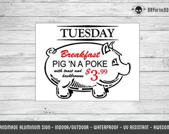 Pig in a Poke metal sign - supernatural geek gift spn breakfast kitchen decor