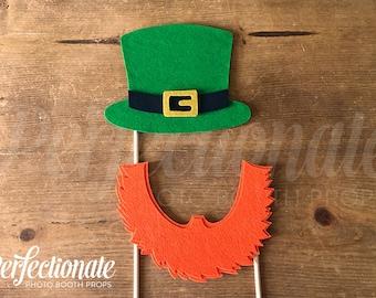 Leprechaun Props | Leprechaun Hat | St Patricks Prop | Leprechaun Beard | Photo Booth Prop