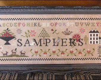 NEW Samplers Nashville Market 2017 The Scarlett House cross stitch patterns dogs and sheep
