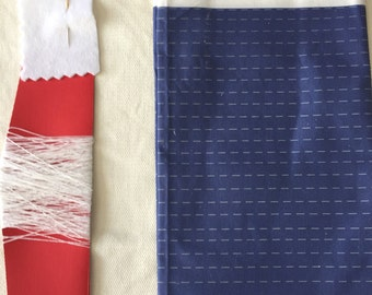 Sashiko Kit Japanese Style for Beginners Complete Needle Cloth Thread Embroidery