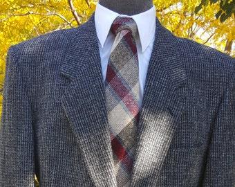 VINTAGE Mens HARRIS TWEED Jacket Harris Tweed Blazer Multi Blue  Tweed Jacket Check Measurements Excellent 38 Regular