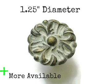 "Vintage French Provincial Drawer Knobs - 1.25"" Diameter Ornate Pulls - More Available"