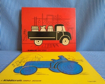 Truck and Tractor Puzzles 1970s