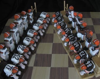 Cleveland Browns Championship football team chess set by Jim Arnold