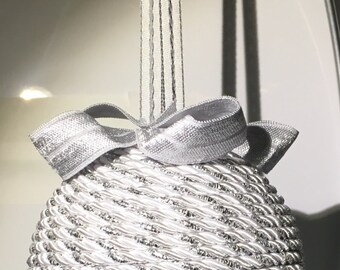 """Sparkling Silver and White 3"""" Ornament"""