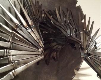 Firebird Phoenix Eagle Metal Wall Sculpture, upcycled metal phoenix bird sculpture, Unique Metal Eagle Bird Sculpture, unique wall art bird