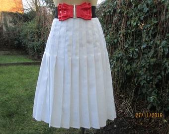 Pleated Skirt / Pleated Skirts / Skirt Vintage / White Pleated Skirt / Accordion Skirt / Pleated Skirt Size EUR44 / UK16