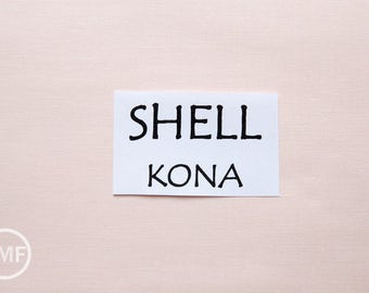 One Yard Shell Kona Cotton Solid Fabric from Robert Kaufman, K001-1271
