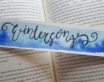 Wintersong Watercolor Bookmark, Gift For Booklover, Young Adult Bookmark