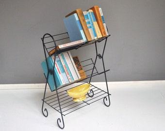 Mid-Century Wire Bookshelf or Storage Rack