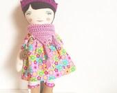 Eliza: heirloom doll, cloth doll, handmade doll, rag doll, girl doll