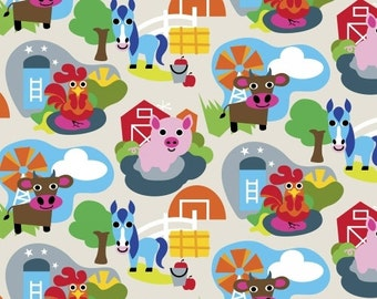 Fabric by the Yard- Farm- Animal Farm- by French Bull for Windham