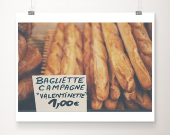 bread photograph kitchen wall art food photography bread print french market photograph baguette photograph baguette print