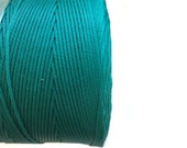 Turquoise Polyester Thread, Blue Waxed Cord, Macrame Cord, Waxed Polyester Thread, Blue Waxed Polyester Cord  (0.8mm) 10m -11yards S 40 172