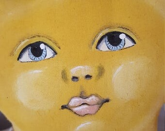 "Folk art ""You are my sunshine"" doll"