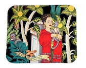 Mouse Pad - Fabric mousepad - Frida Kahlo - Home office / computer / Electronic