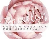 Custom listing for Michaela - Personalised baby gift - Custom name - Roundie play mat - Peony rose - Handmade - Baby Girl - kookinuts