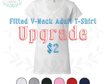 Fitted V-Neck Adult T-Shirt UPGRADE