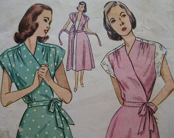 Fabulous Vintage 40s MATERNITY WRAP-AROUND Misses' Housecoat and House Dress Pattern