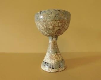 Wheel thrown goblet