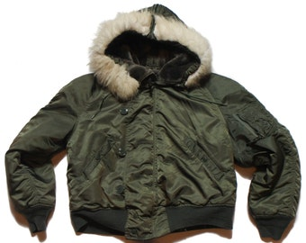 LRG | 1980'S Military N-2B Parka with Attached Hood Alpha Industries, Inc