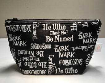 Harry Potter Lord Voldemort Zipper Bag, makeup bag, cosmetic bag, zipper pouch, toiletry bag, gift for women, pencil case