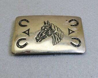 Western Belt Buckle, Horse Head Design, Chambers Belt Co.