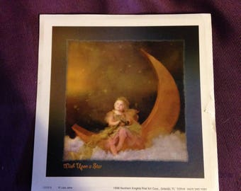 1998 Wish Upon a Star Print Lisa Jane Northern Knights Fine Art Corp - At Everything Vintage Shipping is On Us!