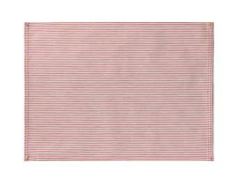 Red Pinstripe Placemat Set
