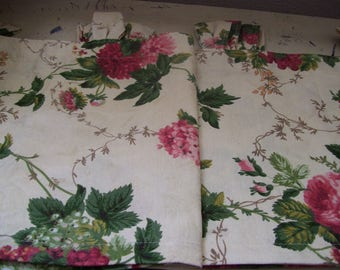 TWO WAVERLY Window Valances-Set of Two with Tab Tops