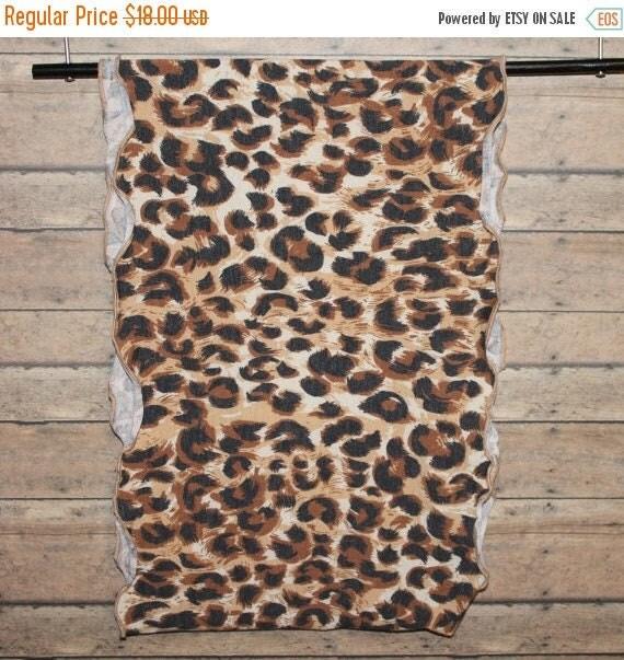 "Leopard Scarf/Soft Sweater Knit Scarf/Wide Scarf/Infinity Scarf/Loop Scarf/Men's/Women's/Animal Print/Tribal/Safari/African/18"" x 56"" Loop"