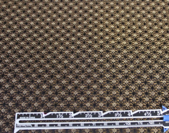 "Upholstery Fabric,Home Decor Fabric,Craft Fabric,Black and Golden Brown Fabric,END OF BOLT 1 Yard by 56"" Wide"