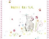 Handmade Easter Card Mouse