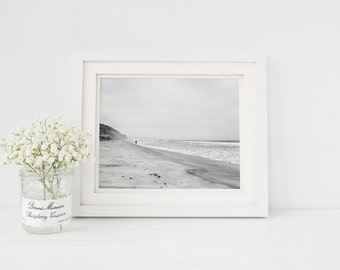 Beach Home Decor - Black and White Surf Art - Torrey Pines San Diego California Beach Photography - Small and Large Art Prints Available