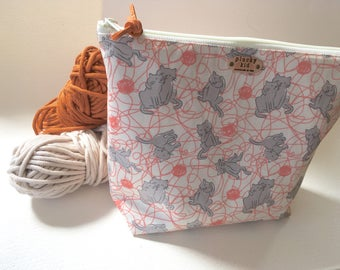 Kitty Bath Print Project Bag