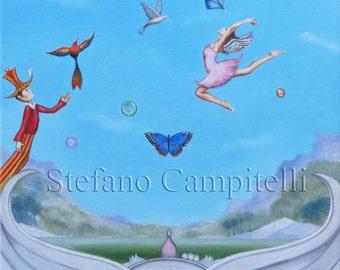 Campitelli giclée print surrealism fantasy Art limited edition prints