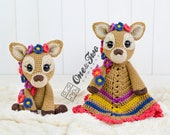Combo Pack - Meadow the Sweet Fawn Lovey and Amigurumi Set for 7.99 Dollars - PDF Crochet Pattern Instant Download - Special Offer