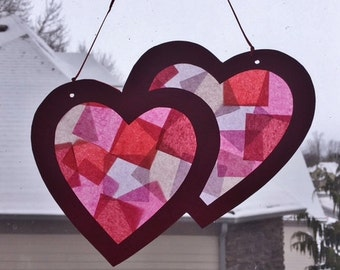 VALENTINE HEARTS Suncatchers (2)
