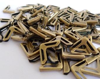100 Bronze Metal Book Corners - Bookbinding - Scrapbooking - Photo Album - Diary - Journal