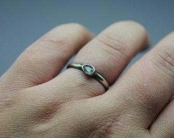 Silver Ring, Gemstone Ring, Sapphire Ring, September Birthstone, Stack Ring, Stacking Ring, Sapphire Jewelry, September Ring, September