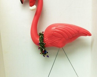 Don Featherstone Upcycled Christmas Flamingo Original from Union Products